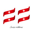 set of four modern colored swiss ribbons vector image