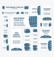 set of web banners of standard sizes vector image