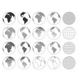 set various three-dimensional abstract earth vector image vector image