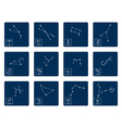 set with zodiac symbols and zodiac constellation vector image vector image