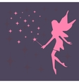 Silhouette of a fairy and stars vector image vector image