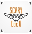 Skull scary logo vector image