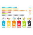 special garbage buckets set for various rubbish vector image