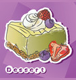 sticker with lime dessert vector image vector image