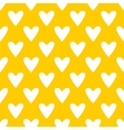 Tile pattern with white hearts yellow background vector image vector image