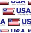 usa travel destination national flag seamless vector image vector image