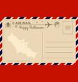 vintage halloween postcard vector image vector image