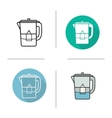 Water filter icons vector image vector image