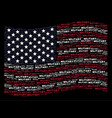 waving united states flag stylized composition of vector image