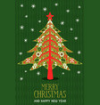 year scandinavian pine tree card vector image