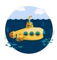 Yellow Submarine undersea vector image vector image