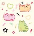 kawaii style cat kitten kitty pet on vector image