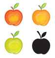 apple sign isolated apple fruit set fresh farm vector image vector image