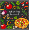 background for a menu italian food vector image vector image
