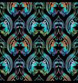 barogue vintage seamless pattern floral vector image vector image