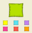 bed pillow templates set of multicolored pillows vector image vector image
