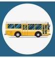Bus icon flat design city transportation vector image