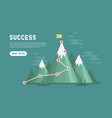 business goal success concept infographic vector image vector image