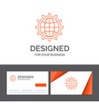 business logo template for world globe seo vector image vector image
