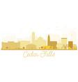 cedar falls iowa skyline golden silhouette vector image vector image