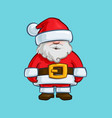 christmas cartoon icon - santa claus doll vector image vector image