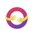 circle with hands logo template abstract business vector image vector image