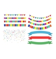 Colorful Garlands on white background vector image vector image