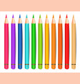 colorful pencils isolated realistic vector image vector image