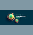 coronavirus covid19-19 disease banner with two vector image vector image