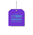 cyber monday blue 04 vector image vector image