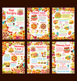 fastfood restaurant menu posters vector image vector image