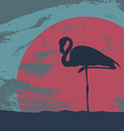 FlamingoStand20 vector image vector image