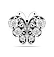 Floral black pattern in a shape of a butterfly vector image vector image