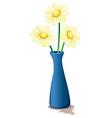 Flowers inside a vase vector image