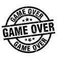game over round grunge black stamp vector image vector image