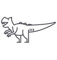 giganotosaurus line icon sign vector image