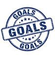 goals blue grunge round vintage rubber stamp vector image vector image