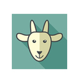 Goat icon Farm animal vector image