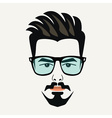 Goatee beard young handsome hipster male icon vector image