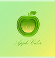 green apple with sparkling cider inside vector image