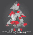 greeting card with christmas tree in vector image