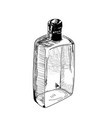 hand-drawn alcohol bottle vector image vector image