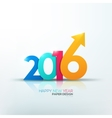 Happy new year 2016 Text Design vector image