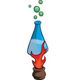 heated alchemy flask vector image