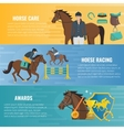 Horse Sport Banners vector image