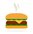 hot hamburger with cheese and salad vector image vector image