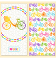 Invitation card with bike in the chain wreath vector image vector image