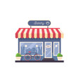 isolated on white bakery shop storefront vector image