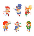 isometric circus party fun carnival clowns funny vector image vector image