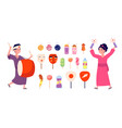 japanese festival elements japan symbols cute vector image vector image